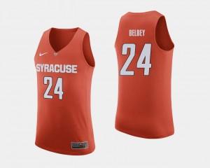 For Men Orange #24 Shaun Belbey College Jersey Basketball Cuse Orange