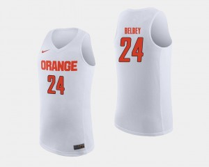 White Basketball Cuse Orange #24 Men's Shaun Belbey College Jersey
