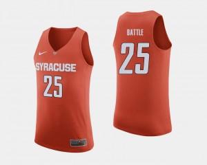 Tyus Battle College Jersey Basketball Men's Cuse Orange Orange #25