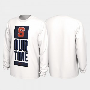 Our Time Bench Legend Men College T-Shirt Syracuse University White 2020 March Madness