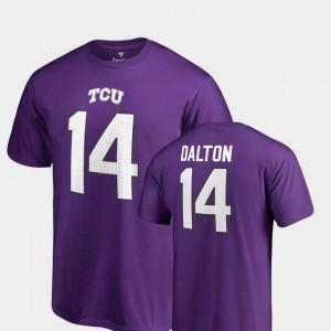 Men Andy Dalton College T-Shirt Legends Texas Christian University Purple #14 Name & Number