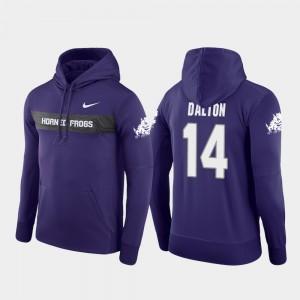 For Men's Sideline Seismic Texas Christian Andy Dalton College Hoodie #14 Football Performance Purple