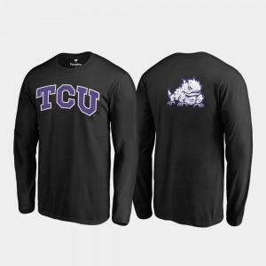 Black Long Sleeve College T-Shirt Texas Christian Mens Primetime