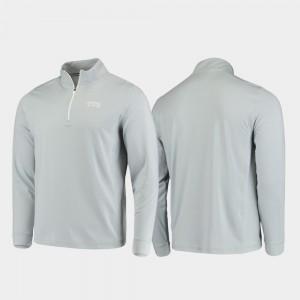 TCU Gray Quarter-Zip Performance For Men College Jacket Gameday