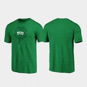 Celtic Charm Tri-Blend Men's St. Patrick's Day Green TCU University College T-Shirt
