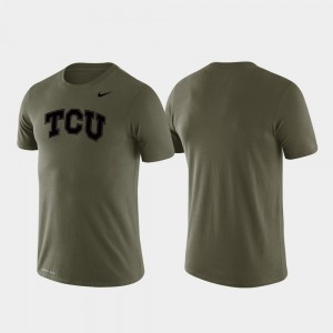 Performance Men Tonal Logo Legend College T-Shirt Texas Christian University Green