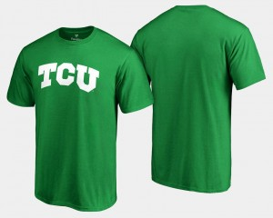 College T-Shirt Kelly Green Men's White Logo Big & Tall St. Patrick's Day TCU