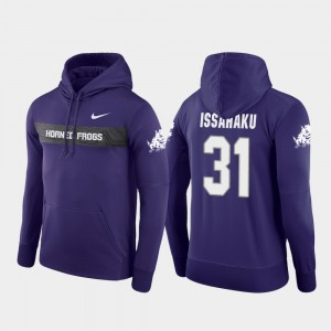 #31 Texas Christian University Mens Sideline Seismic Purple Football Performance Ridwan Issahaku College Hoodie
