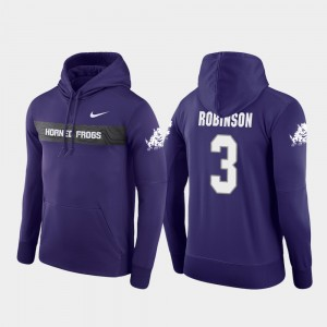 Sideline Seismic Football Performance Shawn Robinson College Hoodie TCU University #3 Men Purple