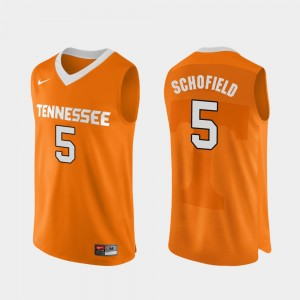 Admiral Schofield College Jersey UT VOL Orange Basketball Authentic Performace #5 Mens
