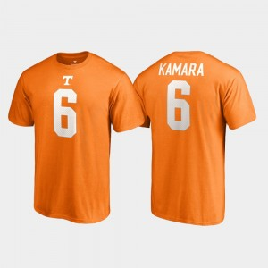 Name & Number Men Tennessee Orange #6 TN VOLS Alvin Kamara College T-Shirt Legends