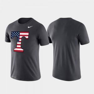 Vols For Men Americana Legend Performance College T-Shirt Anthracite
