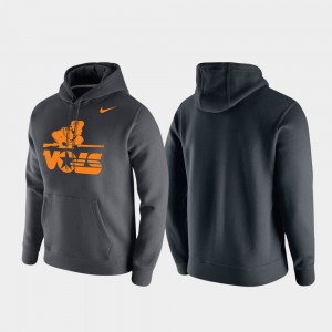 Anthracite Vintage Logo Club Fleece For Men College Hoodie Tennessee