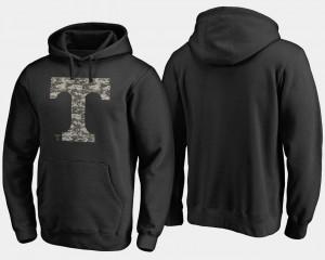Big & Tall College Hoodie University Of Tennessee Camo Cloak Mens Black