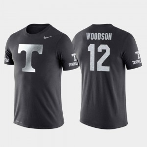 Travel Basketball Performance Brad Woodson College T-Shirt For Men's #12 Anthracite VOL