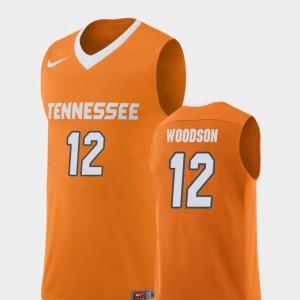 Replica Brad Woodson College Jersey Basketball Tennessee Vols Orange For Men's #12