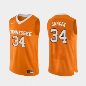Authentic Performace Basketball Men's #34 Brock Jancek College Jersey Orange TN VOLS
