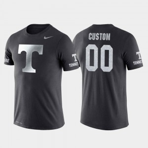 College Customized T-Shirts Basketball Performance For Men's Anthracite Travel #00 Tennessee