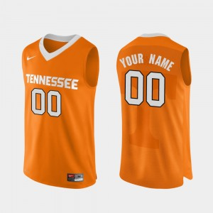 Orange Men's Basketball College Custom Jerseys Tennessee #00 Authentic Performace