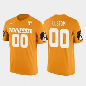 Future Stars #00 Tennessee Vols Mens College Custom T-Shirts Orange Cotton Football