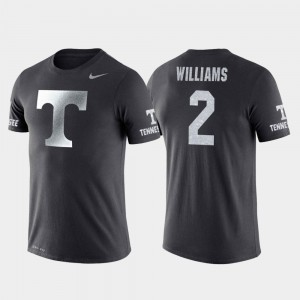 For Men Basketball Performance #2 Anthracite Tennessee Vols Grant Williams College T-Shirt Travel
