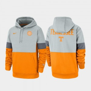 Gray Tennessee Orange Therma Performance Pullover Vols College Hoodie For Men's Rivalry