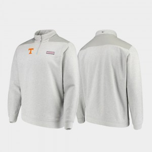 Shep Shirt For Men's Heathered Gray Quarter-Zip TN VOLS College Jacket
