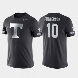 Mens John Fulkerson College T-Shirt Basketball Performance Travel Anthracite #10 UT VOLS