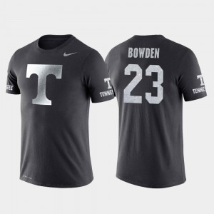 #23 Basketball Performance Anthracite Tennessee Jordan Bowden College T-Shirt Travel For Men's