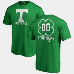 UT VOLS Men's Fanatics Big & Tall Dubliner #00 St. Patrick's Day College Custom T-Shirts Kelly Green