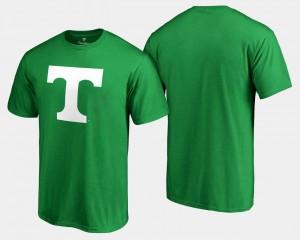 White Logo Big & Tall UT VOLS Mens College T-Shirt Kelly Green St. Patrick's Day