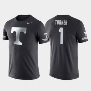 Travel Men's #1 UT VOL Basketball Performance Anthracite Lamonte Turner College T-Shirt