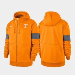 College Hoodie 2019 Sideline Therma-FIT University Of Tennessee Performance Full-Zip For Men's Tenn Orange