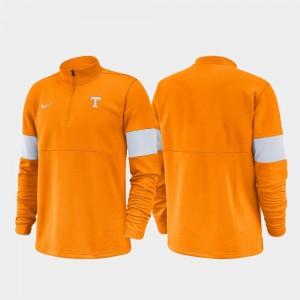 Tennessee Orange College Jacket Men 2019 Coaches Sideline TN VOLS Half-Zip Performance