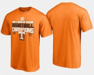 Basketball Regular Season College T-Shirt 2018 SEC Champions Men Tennessee Orange University Of Tennessee