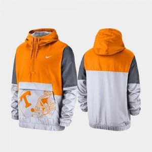College Jacket VOL For Men's Tennessee Orange Quarter-Zip Colorblock Anorak