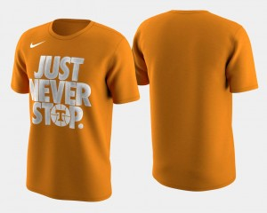 College T-Shirt Tennessee Orange March Madness Selection Sunday UT VOLS Basketball Tournament Just Never Stop Men's
