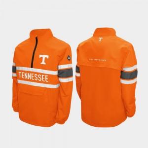 For Men's Alpha Windshell Pullover UT Quarter-Zip Tennessee Orange College Jacket