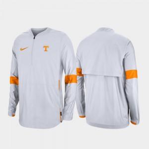 White College Jacket Quarter-Zip UT VOLS 2019 Coaches Sideline Mens