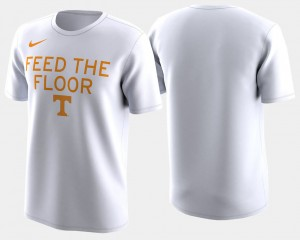 Mens Basketball Tournament 2018 March Madness Bench Legend Performance College T-Shirt White Vols