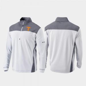 White Vols For Men's Omni-Wick Standard Quarter-Zip Pullover College Jacket