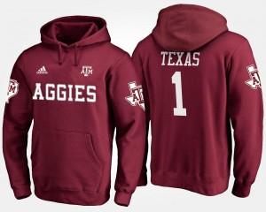 College Hoodie Men No.1 #1 Maroon Texas A&M Aggies