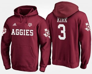For Men's A&M #3 Maroon Christian Kirk College Hoodie