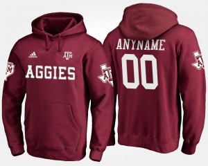 A&M #00 For Men College Customized Hoodie Maroon