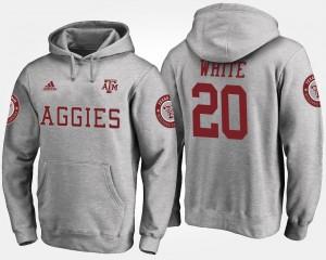Gray #20 James White College Hoodie Aggie Men's