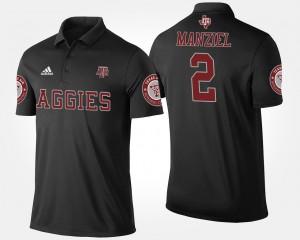 #2 Black Johnny Manziel College Polo Texas A&M University For Men's