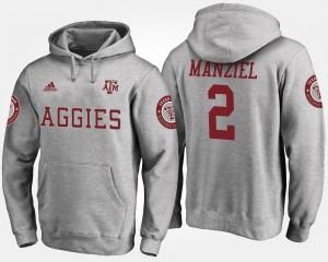 #2 Texas A&M University Men Gray Johnny Manziel College Hoodie