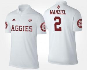 #2 Aggies Men's Johnny Manziel College Polo White