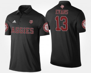 Mens #13 Aggies Black Mike Evans College Polo