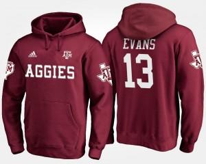 Mens Aggie Maroon #13 Mike Evans College Hoodie